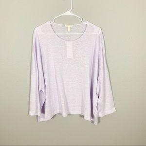 NWT Eileen Fisher Organic Linen Knit Sweater